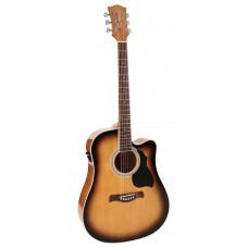 RD-12-CESB Richwood acoustic guitar, dreadnought model, active EQ, die cast machine