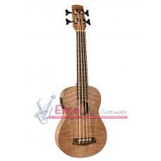 UKBB-310-E Korala bass ukulele, all flamed okume top, with guitar machine heads,