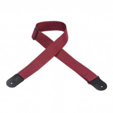 Levy's gitaarband rood strap M8POLY-BRG
