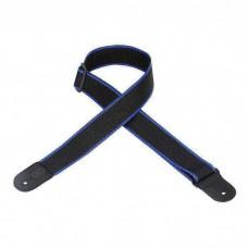 Levy's gitaarband zwart-blauw strap M8POLY-BKB
