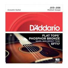 Snaren D'Addario Flat tops EFT-17, 13-56