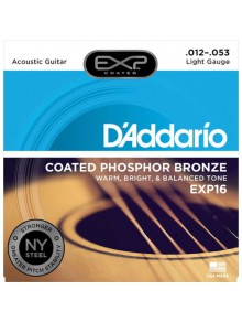 Snaren D'Addario EXP16 Light Acoustic ph. bronze 12-53