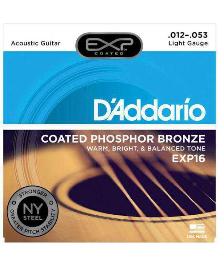 Snaren D'Addario EXP16 Light Acoustic ph. bronze 12-53