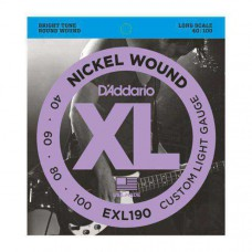 Set Bassnaren  D'Addario  EXL190 40-100