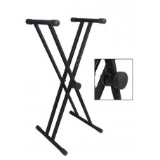 Boston keyboard stand, 35cm top tubes, XX-model, zwart  KS-205