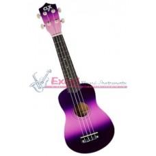 Ukelele CLX Calista 21 Pink + Purple  DC2