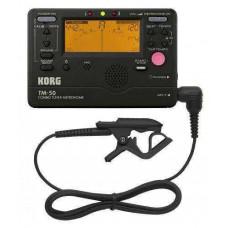 Korg TM-50C Tuner/Metronoom/recorder + contact microfoon